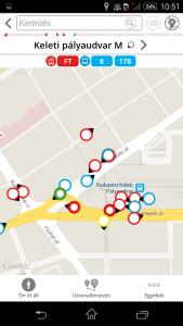 bkk futár route4u akadálymentes térkép